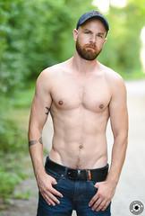 romualdcortes_romain_meribel0003 (cortesromuald) Tags: nature portrait model male homme torse bear bearded barbu casquette jean