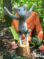 Peonia loves me!! (Foxy Belle) Tags: mouse camping woods soldier story scene miniature dollhouse 112 gi joe tent