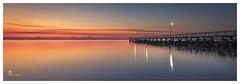 Jetty at dawn (pbaddz) Tags: australia redorange dawn moretonbay jetty water wellingtonpoint queensland