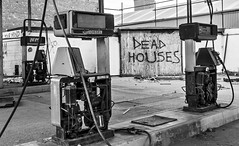 Dead Pumps, Dead Houses (Carl Yeates) Tags: dead pumps fuel gas canon550d station empty abandoned