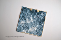 Back. (Jayne ~ Twiggy & Opal) Tags: handdyedfabric shibori miniquilt quilt handquilting handstitching