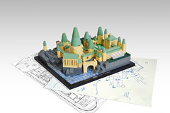 Lego Architecture: Hogwarts Castle (Kit Bricksto) Tags: lego architecture fictional building hogwarts castle harry potter moc model plate tan tower great hall imperiumdersteine ids contest entry
