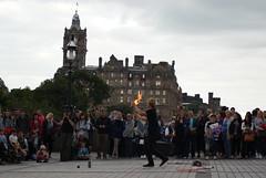 Street Performer, Edinburgh (Secondcity) Tags: edinburgh streetperformer edinburghfestivalfringe balmoralhotel