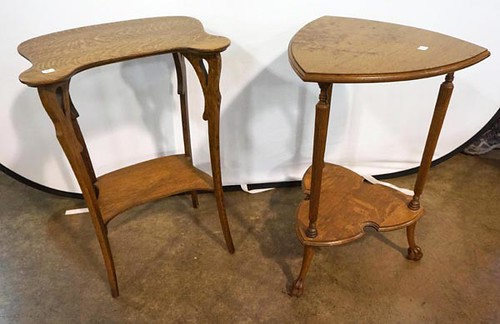 Oak Claw Foot Triangular Stand ($145.60) & Art Nouveau Stand ($145.60)