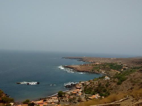 A Cidade Velha vista da Fortaleza Real de São Filipe.