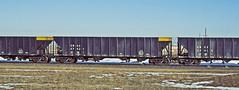 KMCX 57421 all steel coal hopper-near Cheyenne, Wyoming. (Wheatking2011) Tags: kmcx kerr mcgee coal corpation union pacific railroad near cheyenne wyoming all steel hopper 35mm slide converted digital image