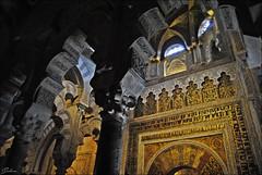 Mezquita de Crdoba (2016) (Selene's Photography) Tags: arabe musulman cordoba espaa andaluca architecture arquitectura arte art columnas arcos oro gold inglesia cathedral catedral mezquita andalucia