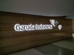 Garuda Indonesia logo (A. Wee) Tags: jakarta  indonesia  airport  cgk soekarnohatta terminal3 garudaindonesia lounge