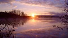 Autumn Sunrise on Clear Lake (finlander13) Tags: sunrise clearlake ironrange superiornationalforest minnesota