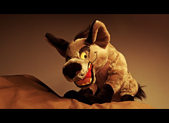 003-Banzais Cinematic Sunset (Univaded Fox) Tags: banzai hyena the lion king plush disney store photography experiment sunset filters photoshop univaded