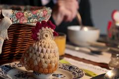breakfast (fraeuleinfamos) Tags: breakfast mornings crochet atthetable frhstck chicken hkeln yarn handmade