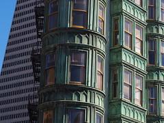San Francisco 2016 (hunbille) Tags: usa america san francisco sanfrancisco california columbus avenue columbusavenue transamerica pyramid transamericapyramid northbeach north beach sentinel building sentinelbuilding window