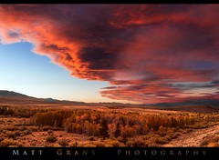 Wave Clouds Over Conway Summit (Matt Grans Photography) Tags: lenticular waveclouds clouds conwaysummit autumn fall mountains trees sunset red easternsierras california landscape