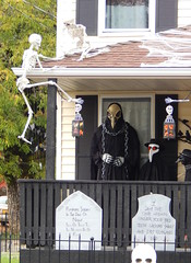 Crow God (Morganthorn) Tags: halloween haunted house spooky creepy skeleton spider ghost ghoul zombie horror