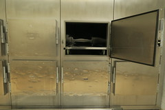 Morgue L  (Alley Cat (photography)) Tags: urbex urbanexploration explorationurbaine abandoned abandonn morgue mortuaire mortuary mort death dead