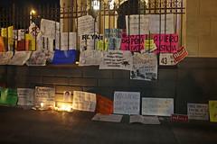 Monterrey Protesta por Ayotzinapa (Bernardo Becerra) Tags: world méxico night mexico photography noche photo flickr peace foto protest paz protesta posters nuevoleon carteles fotografia banners monterrey desaparecidos fotografía pancartas nuevoleón 20nov normalistas ayotzinapa yamecanse