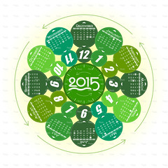 Vector Year of 2015 Calendar - Illustration (imagesstock) Tags: christmas autumn winter summer holiday green clock june circle design march spring october december day pattern symbol time year istockphoto january may july plan august chinesenewyear newyear september newyearseve april week annual february reminder multicolored istock month vacations vector monthly newyearsday routine officesupply 2015 designelement personalorganizer illustrationandpainting japanesenewyear digitallygeneratedimage graphicelement annualevent calendardate year2015 2015year