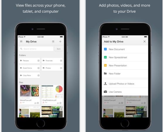 Google Drev til iPhone opdateret med IOS 8, iPhone 6 og Touch ID support + mere..