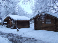Cute cabins at Chena (nate'sgirl) Tags: christmas winter vacation snow alaska frost ak resort remo
