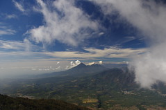Volcan Acatenango, Antigua Guatemala, Guatemala (ARNAUD_Z_VOYAGE) Tags: santiago two sky cloud sun mountain color green nature colors beautiful fog clouds america forest sunrise spectacular de landscape volcano la site los highlands amazing view natural mayor guatemala capital centro central churches peak antigua pico huge tres volcanoes peaks fuego region volcanic moutains department horqueta centrale highest municipality departmental caballeros volcn stratovolcano hermanas volcanism sacatepquez yepocapa