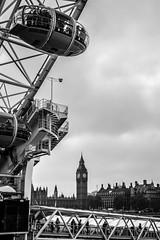 London icons (NSJW photos) Tags: bw london westminster mono housesofparliament londoneye bigben southbank riverthames westminsterbridge nikond3200 nsjwphotos