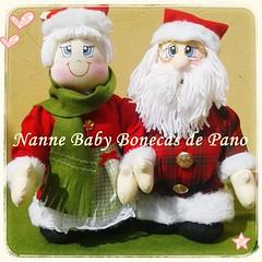 Em clima de Natal... (Nanne Baby Bonecas de Pano) Tags: natal de pano noel boneca papai tecido