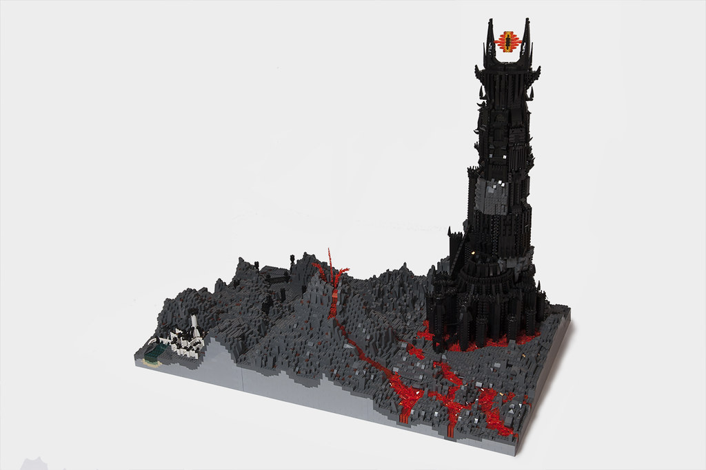 Image result for Six foot replica of the Tower of Mordor. lego