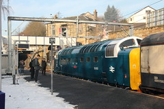 55003 (55022) Springburn, Scotland (Paul Emma) Tags: uk railroad train scotland glasgow railway locomotive springburn deltic diesellocomotive dieseltrain 55022 5d15 55003