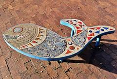 Untitled (ArtFan70) Tags: usa fish art boston america bench ma unitedstates mosaic seat massachusetts rosenberg roxbury lilliannrosenberg marvinrosenberg dudleytowncommon