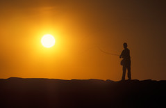 0554C917M (jgphoto1us) Tags: boy sunset summer boys kids youth kid fishing alone massachusetts sunsets flyfishing boyhood