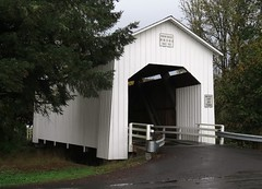 Parvin Bridge (Larry Myhre) Tags: bridge oregon coveredbridge dexter lostcreek parvin oregoncaliforniaoctnov2014