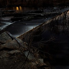 Nissitissit Dam by Moonlight no.1 (c. doerbeck) Tags: water ma flow dam massachusetts sony falls le alpha a77 pepperell nissitissit doerbeck christophdoerbeck
