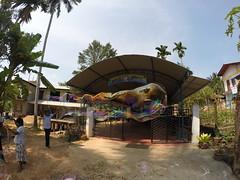 Seifenblasen in Behinderteneinrichtung in Ittapana, Sri Lanka 18