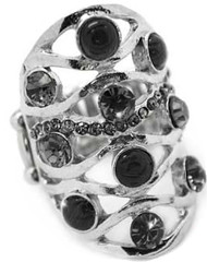 5th Avenue Black Ring P4130A-3