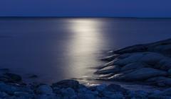 Moonlight on the ocean (WibergPhoto) Tags: ocean night moonlight