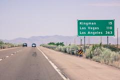 Heading to LA (Juha Helosuo) Tags: trip travel las vegas arizona usa sign america canon landscape photography los route66 driving united dream angles az 66 route l states usm heading f4 kingman 70200mm 50d