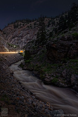 Colorado Creek Nocturne (color) (JMichaelSullivan) Tags: magical 5f 10f nocturne night colorado creek 100v 500v