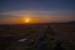 Merivale 4 (trevorhicks) Tags: sunset sky pool clouds standing canon stones rows moors tamron dartmoor 6d crass merrivale