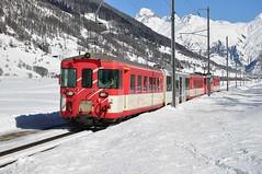 MGB train leaving Geschinen (TrainsandTravel) Tags: schweiz switzerland suisse narrowgauge mgb electrictrains matterhorngotthardbahn schmalspurbahn trainsélectriques voieetroite elektrischezüge