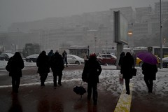 Cancelled (ardac) Tags: people snow pier istanbul vapur kar cancellation insanlar sefer vapeur kabataş iskelesi iptali