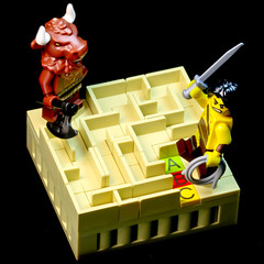 """The answer A"" / La reponse A (Gzu's Bricks) Tags: brick miniature lego ariane these vignette labyrinthe mythologie minotaure"