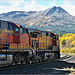Squaw Mountain East Glacier Montana & BNSF