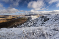 The coming of spring (Malajusted1) Tags: park white snow simon clouds fell scars thaw ingleborough ribblehead ribblesdale