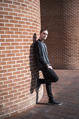 59/365 - Robbie (Joshua Nistas) Tags: arizona man male brick guy 50mm model nikon downtown tucson az d750 nikkor tucsonaz