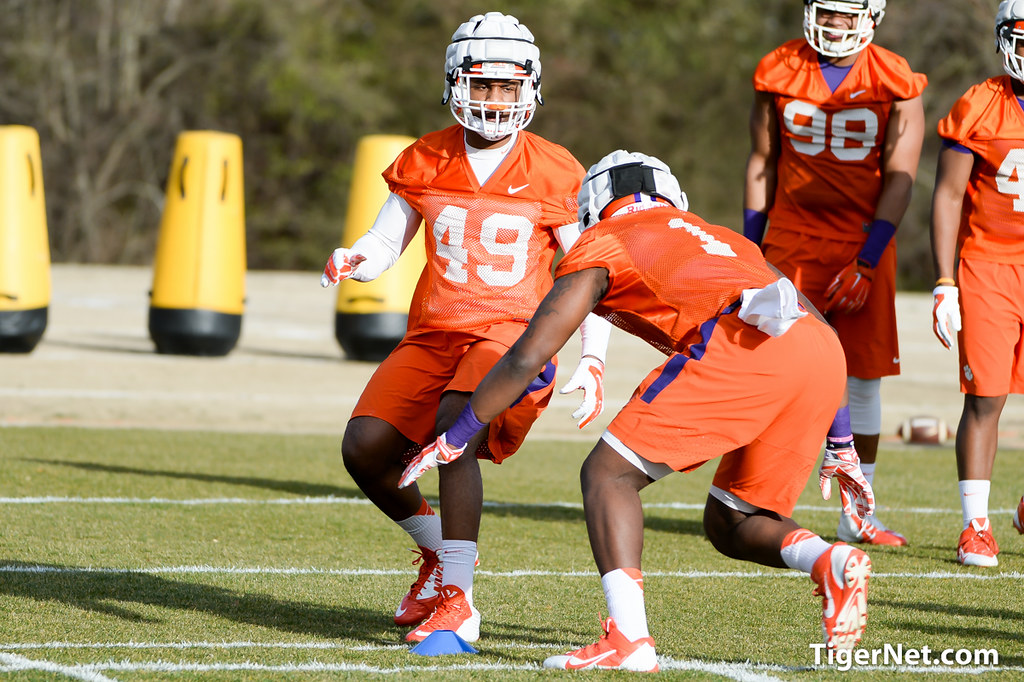 Clemson Photos: 2015, Football, practice, Ebenezer  Ogundeko, Richard  Yeargin