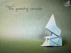The geometry conceiver (quiet marverick) Tags: wet watercolor paper tales geometry fairy folded alexander kurth akorigami