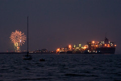 Departure Fireworks (hutchyp) Tags: cruise docks ship fireworks hampshire southampton britannia