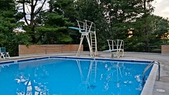 Bretton Woods Pool (SchuminWeb) Tags: county trees tree germantown water pool pine swimming swim boards md woods afternoon ben web board maryland august diving rope pools lane late montgomery ropes lanes bretton 2014 darnestown schumin schuminweb