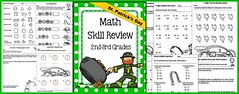 March Math Skill Review (2nd-3rd Grades) (CHSH-Teach) Tags: 3rdgrademath marchmath mathskillsreview 2ndgrademath stpatricksdaymath