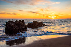 Malibu Sunset! Red, Yellow, Orange Clouds! Magical El Matador Beach Sunset! Nikon D810 HDR Photos Dr. Elliot McGucken Fine Art Photography!  14-24mm Nikkor Wide Angle F/2.8 Lens (45SURF Hero's Odyssey Mythology Landscapes & Godde) Tags: sunset seascape beautiful beauty landscape nikon gorgeous fineart wideangle malibu pch nikkor elliot f28 hdr fineartphotography pacificcoasthighway mcgucken bikinimodel d810 swimsuitmodel malibusunset 45surf wideanglezoomlens 1424mm nikon1424mmf28g nikon1424mmf28gedafsnikkorwideanglezoomlens edafs elliotmcgucken drelliotmcgucken d810nikon herosodyssey fineartphotorgapher